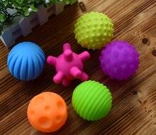 4 & 6 & 1Pcs Textured Multi BallชุดพัฒนาBabyความรู้สึกสัมผัสของเล่นสัมผัสมือการฝึกอบรมนวดบอลRattleกิจกรรมของเล่น