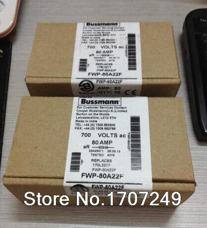 купить Free Shipping 10PCS/LOT US Bussmann Fuses FWP-80A22F FWP-80A22Fa 80A 700V 22 times; 58mm по цене 7751.72 рублей