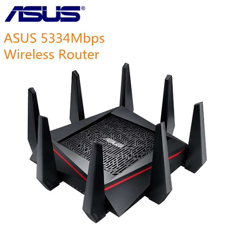 ASUS RT-AC5300 5334Mbps Wireless Router AC5300 2.4GHz/5GHz Tri-Band MU-MIMO Gigabit Wifi Repeater Router PK Xiaomi Router цена и фото