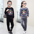Korean Style Girls Clothes set pleuche embroidery Fashion girls Casual Clothing set Kids girls Tracksuit