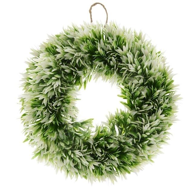 2017 new saim christmas wreath 17 7 inch podocarpus leaves wreath