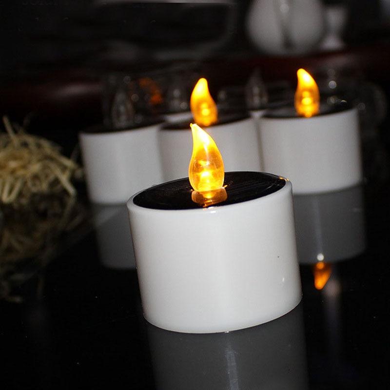120pcs Yellow Flicker Solar Power LED Light Candles Flameless Nightlight Wedding Christmas Party Decoration ZA5265