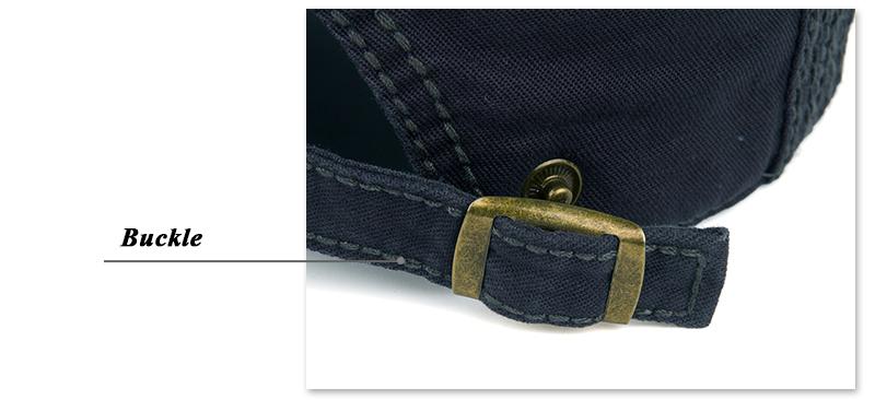 JOYMAY Men's Casual Peaked Cotton Berets Caps