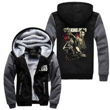2017 Hot New The Walking Dead Hoodie Zombie Daryl Dixon Wings Winter Fleece Mens Sweatshirts Free Shipping M-5XL
