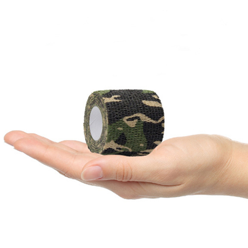 Multifunktionell Camo Tape Non-Woven Självhäftande Camouflage Wrap - Jakt - Foto 5