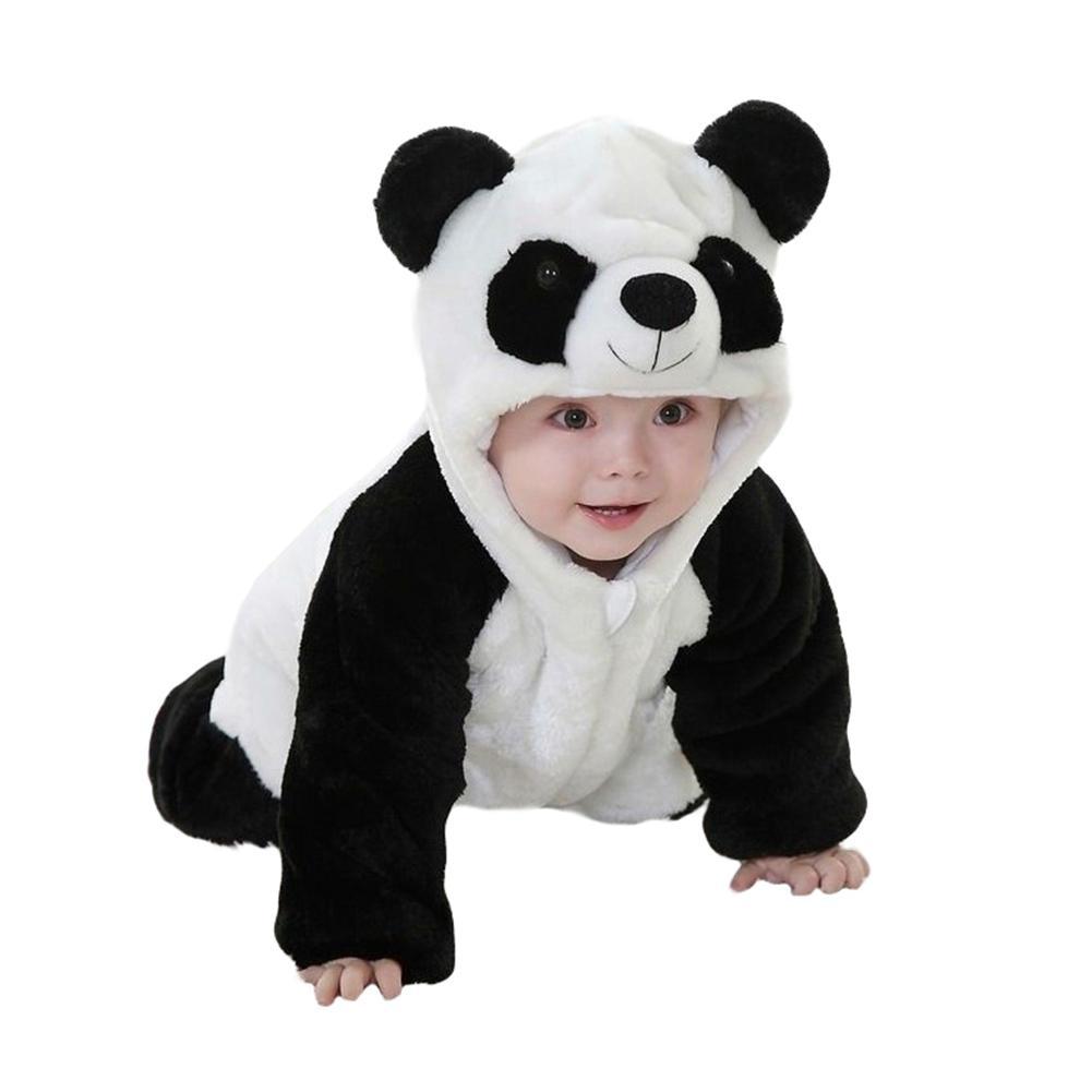 Sanwood Panda Cute Costume Baby Boy Girl Newborn Infant Toddler Jumpsuit Romper Warm