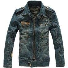 Осенне-зимняя джинсовая повседневная куртка Мужская модная тонкая верхняя одежда пальто куртки с капюшоном потертая старая ковбойская одежда мужские топы