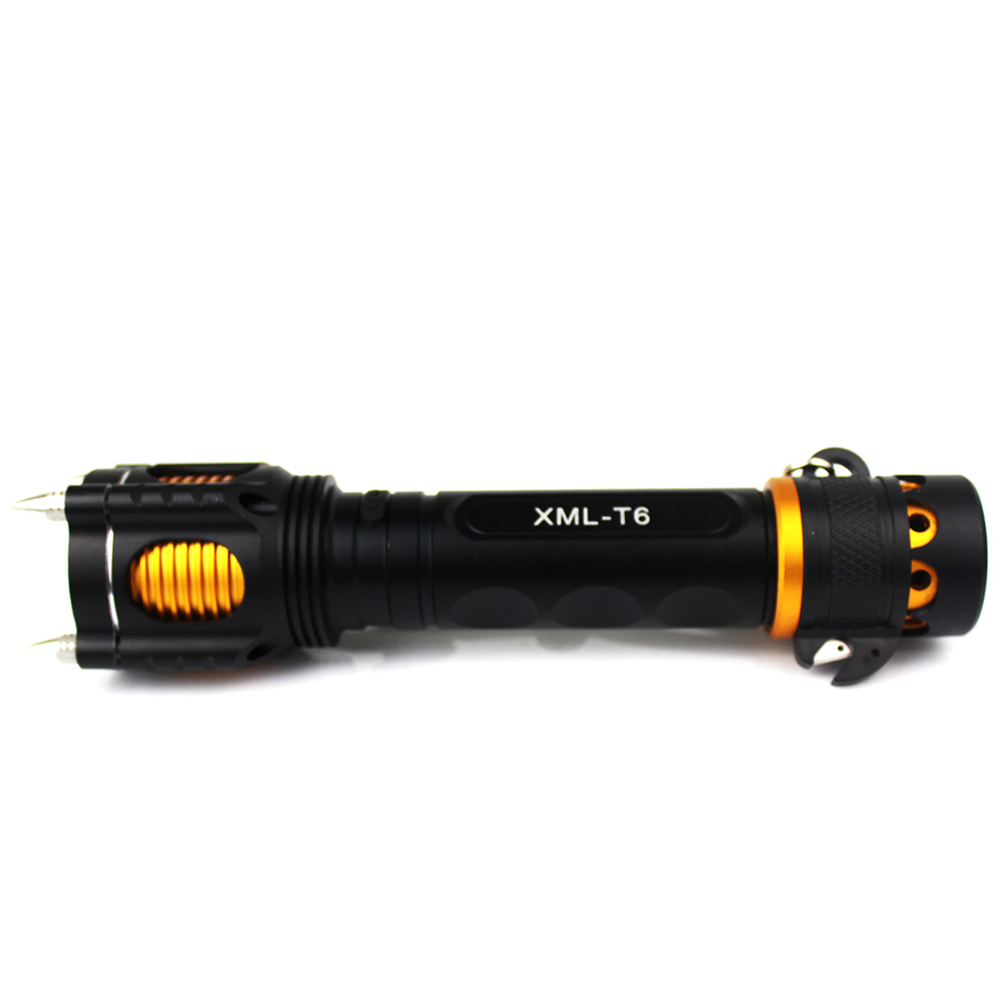 New Aluminum Alloy Zoom Adjustable T6 <font><b>LED</b></font> Flashlight Torch 5 Modes 2000 Lumen Lamp Black <font><b>zaklamp</b></font>