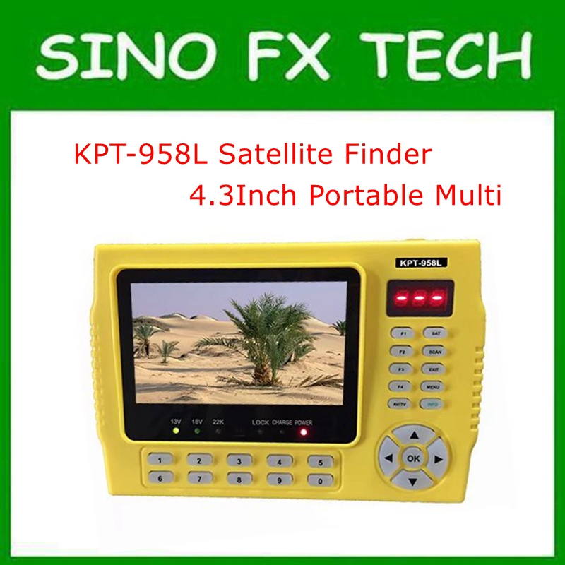 KPT-958L DVB-S2 MPEG4 HD Satellite Finder Meter 4.3 inch LCD big screen Better than freesat v8 finder satlink ws 6979se satellite finder meter 4 3 inch display screen dvb s s2 dvb t2 mpeg4 hd combo ws6979 with big black bag