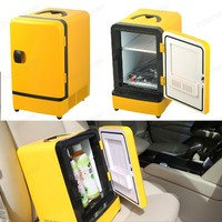 Mini Portable Double Use 12V 7L Auto Refrigerator Car Fridge Multi Function Warmer Travel Home Camping Cooler