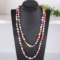 Europe and the United States big brand same sweater chain natural freshwater pearl necklace long paragraph wild simple autumn