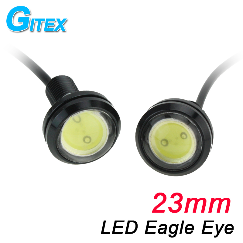 LED car light DC 12V 1pcs 23mm LED Eagle Eye Daytime Running Light parking lamp fog work light source Car styling new arrival a pair 10w pure white 5630 3 smd led eagle eye lamp car back up daytime running fog light bulb 120lumen 18mm dc12v