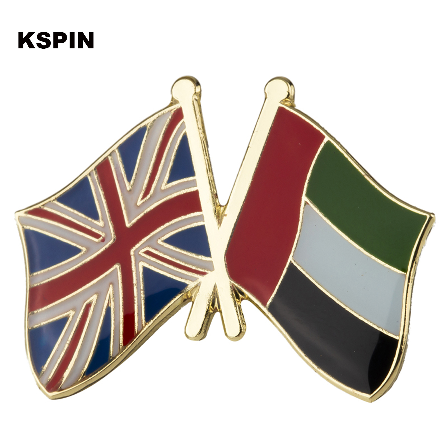 1pcs Metal Badges United Kingdom And U.a.e Friendship Flag Laple Pin Przypinki In Brooches Pins Xy0345 Price Remains Stable Arts,crafts & Sewing