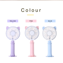 Hot sale Cute Handheld USB Fan Cooler Power Rechargeable Mini Silent Desktop Battery