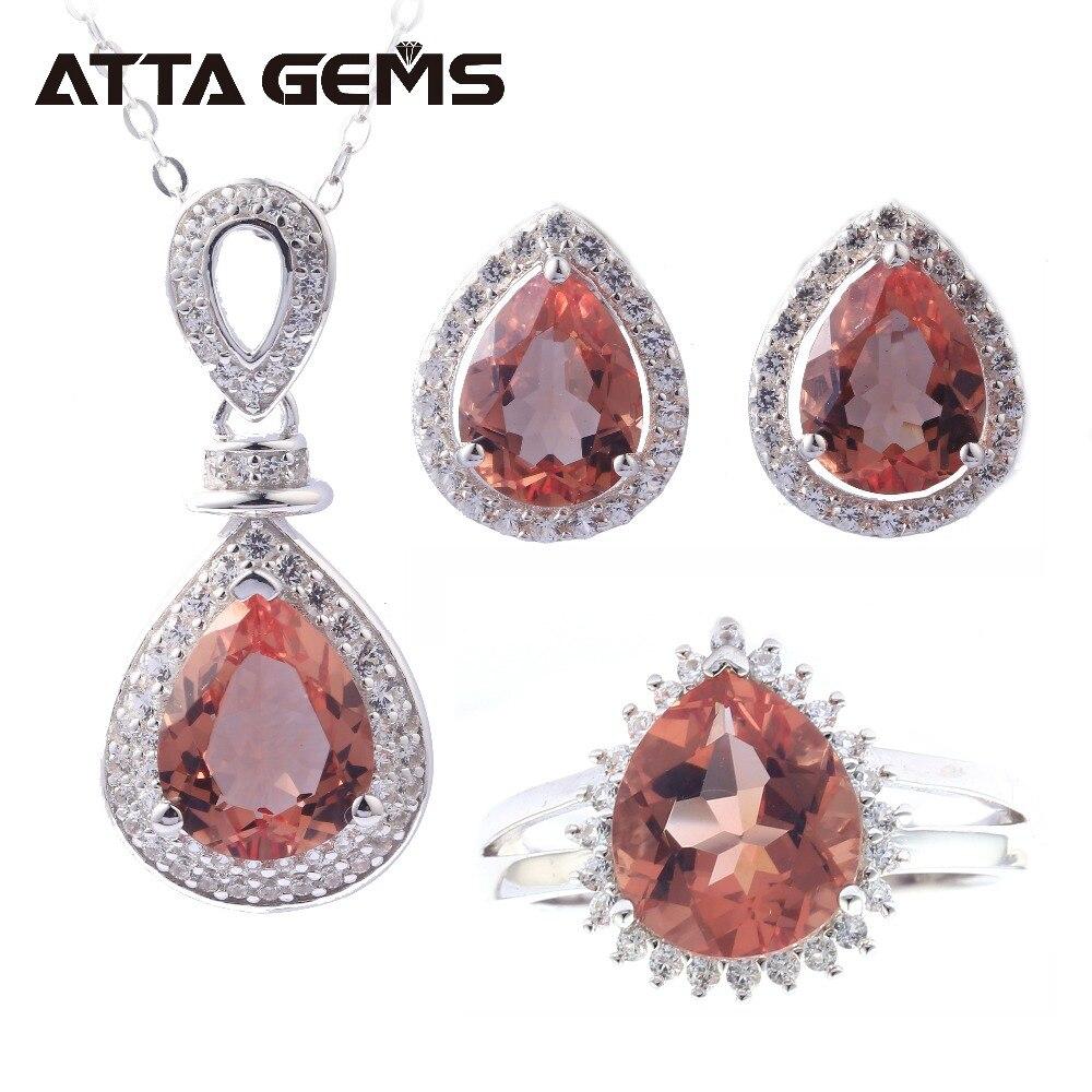 Zultanite ensemble bijoux en argent Sterling pour femmes mariage fiançailles anniversaire 9.5 Carats créé Zultanite S925 ensembles Design