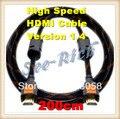 Высокая Скорость 4 К * 2 К HDMI Кабель/Версия 1.4/1080 P/PC & HDTV Кабель/Ethernet 3D Ready/Мужчинами Кабель/200 СМ/Бесплатная доставка