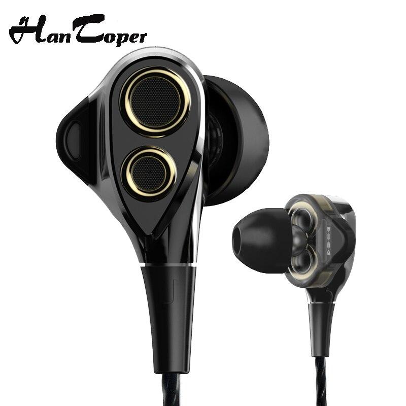 bilder für In Ohr Micro Dual Dynamische Treiber HIFI Kopfhörer Subwoofer Sport Monitor Kopfhörer Ohrhörer Stereo Headset Bass Headfree Für Telefon