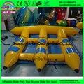 6 Personas Barato Inflable Banana Boat Barco de Pez Volador Inflable Juego Del Agua Del Tubo de Esquí Para Playa