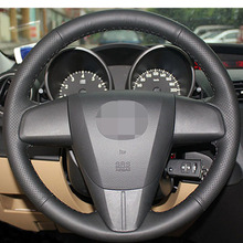 Black Artificial Leather Car Steering Wheel Cover for 2011-2013 Mazda 3 Mazda CX7