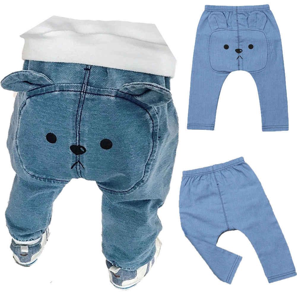 Pantalones Largos De Mezclilla De Dibujos Animados Para Bebes Nino Chico Bebe Nina Pantalones Leggings Pantalones Harem Ropa 0 3t Pantalones Aliexpress