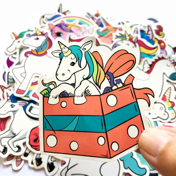 50 Pcs Colorful Cute Unicorn Stickers