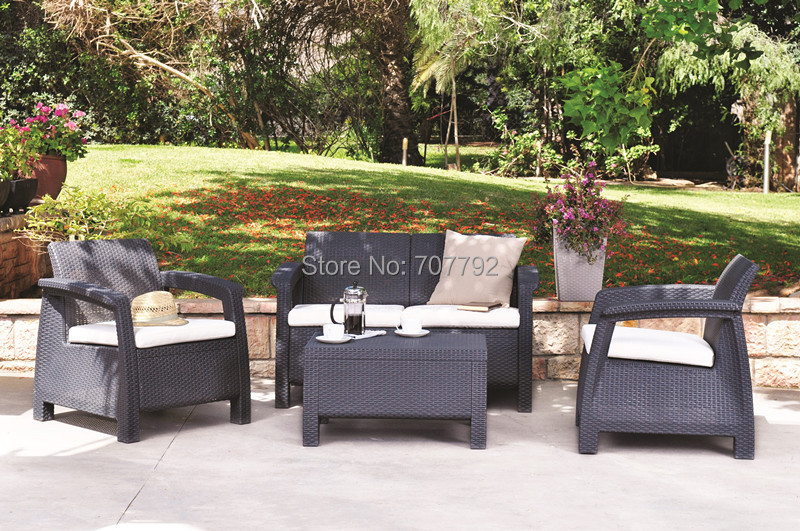 Garden Treasures Sandyfield 5 Piece Steel Patio Conversation Set  Outdoor  Furniture Patio Sets Katinabags com. Garden Treasures Sandyfield 5 piece Steel Patio Conversation Set