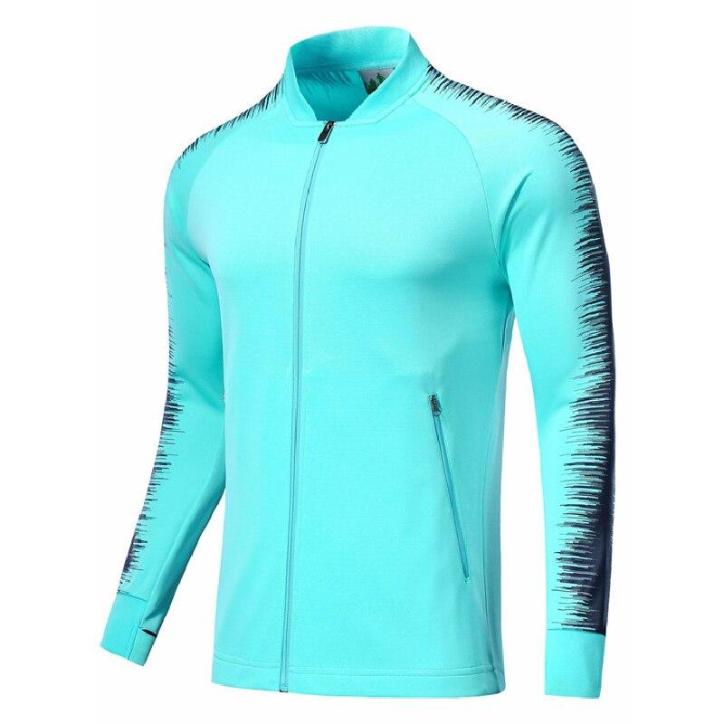 Men Football Jacket 2018 Soccer Sweaters Sport Jackets Zipper