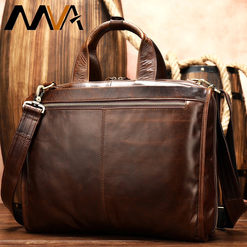 Fashion Briefcase Genuine Leather Men Bag Casual Men Bags Business Leather Man Handbags Briefcase Laptop Bag Maletín Male   8867