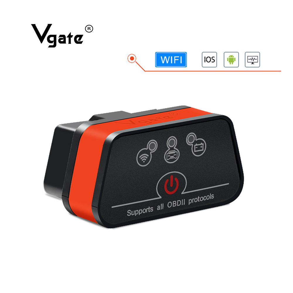 Vgate obd2 ELM327 V2 1 icar2 Diagnostic tool WIFI Mini Scanner elm 327 WIFI Adapter for IOS android PC  OBD 2 WIFI code reader