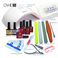 KCE in  24W Professional UV LED Lamp  5 Color 10ml soak off Gel nail base gel top coat   Other Nail Tools