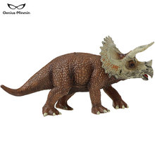 20x6x10cm Hot New World Jurassic dinosaur model simulation animal PVC model Triceratops Boy Toy hot toy mosasaurus dinosaur model hand paint soft pvc animal action