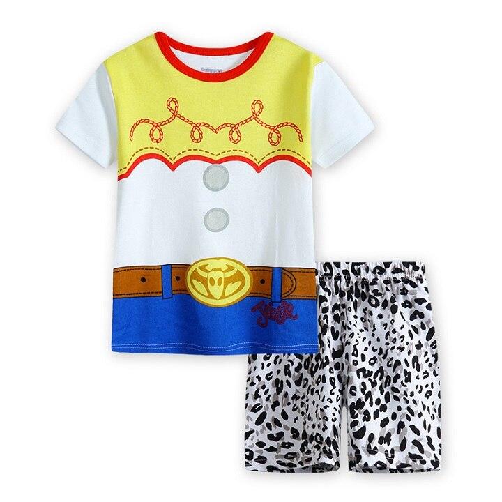 Лидер продаж Детские Для детей, на лето Pijamas малыша Обувь для девочек летние шорты рукав реглан печатных Пижамы для девочек Дети девушка мод...