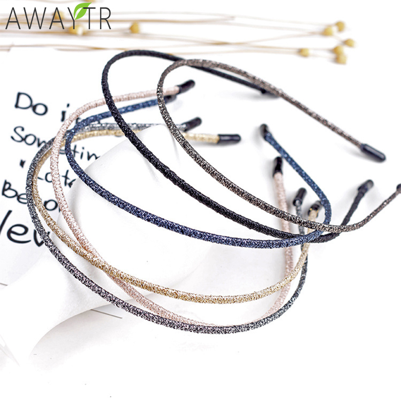 Women Metallic Hairband DIY Craft Metal Handmade Hair Band Solid Shining Headbands Hair Accessories Women Girls   Headwear
