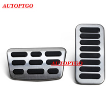 NO Drill Steel Car Rest Gas Fuel Brake Pedal Pads Cover Kit For Hyundai Elantra 2016-2018 Foot Accelerator Cover Accessories car foot pedal for tesla model 3 accelerator gas fuel brake pedal rest pedal pads mats cover car styling accessories