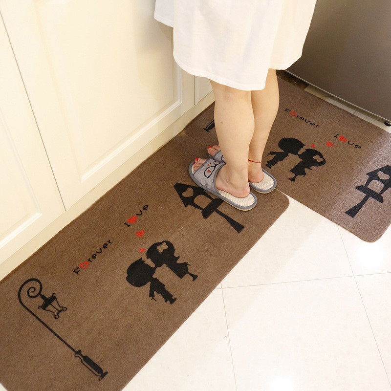 2PCS Absorbent Non slip Mat Super Cool Cartoon Rugs and Carpets Home Living Room Tapete Anti