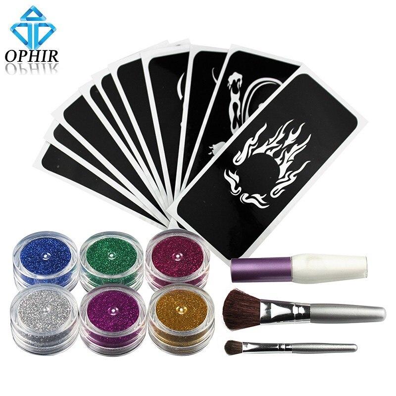 OPHIR Glitter Tattoo 6 Farger Glitter Pulver til Body Art Paint Nail - Tatovering og kroppskunst - Bilde 2