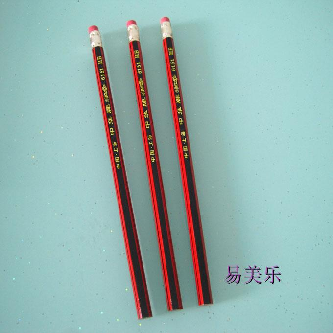 Купить с кэшбэком Freeshipping Hotsale ChungHua HB 12PCS pencil  hardcover pencils China  pencils Students wooden with eraser head