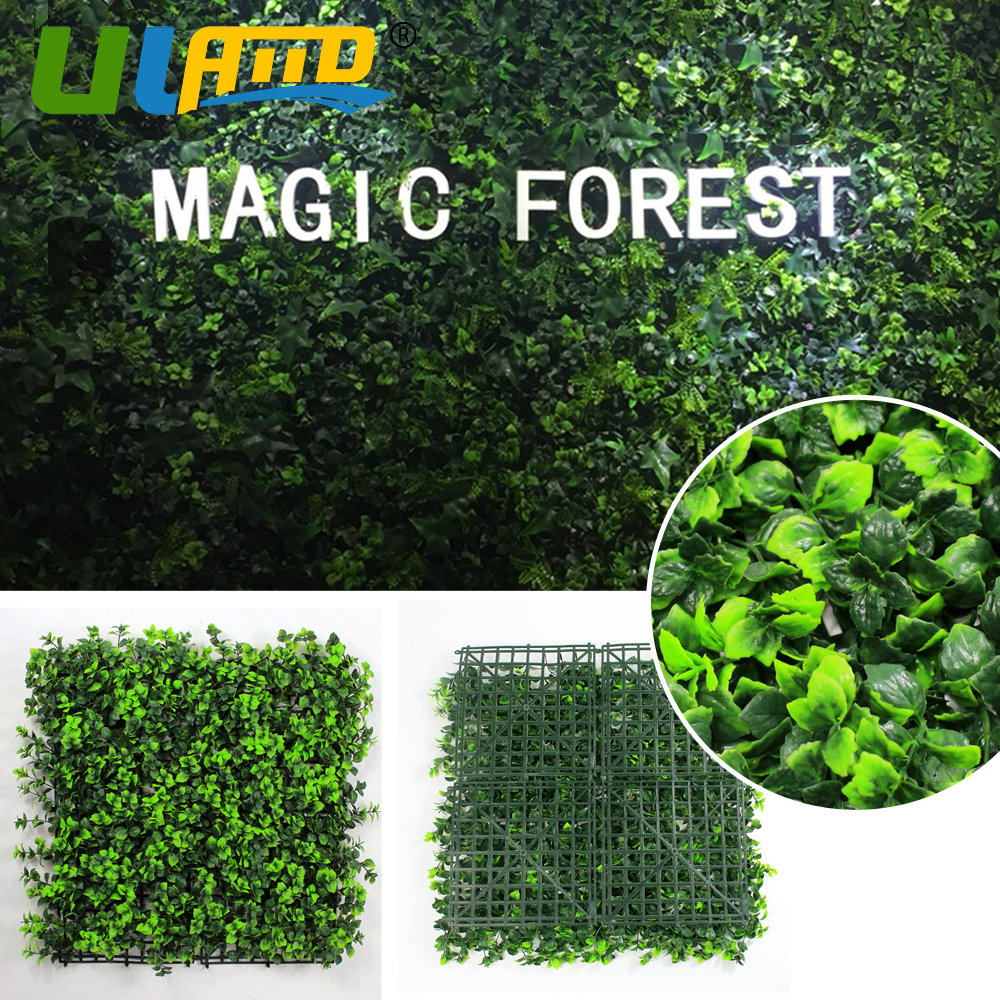 Uland Artificial Boxwood Hedge Mat Fake Ivy Fence Covering