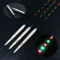 JSFUN 10pcs Lot Luminous Fishing Float 1 2 3 With 10pcs CR425 Battery 5 Full Eletronic