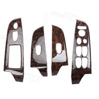 For Honda Civic 8th 2006 2007 2008 2009 2010 2011 4PCS ABS Door Armrest Window Lift Button Panel Cover Trim Interior Accessories