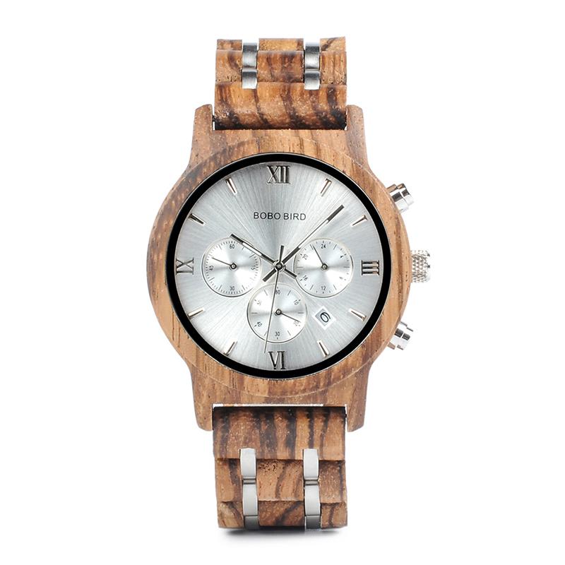 Relojes de Madera con Banda Metálica 18