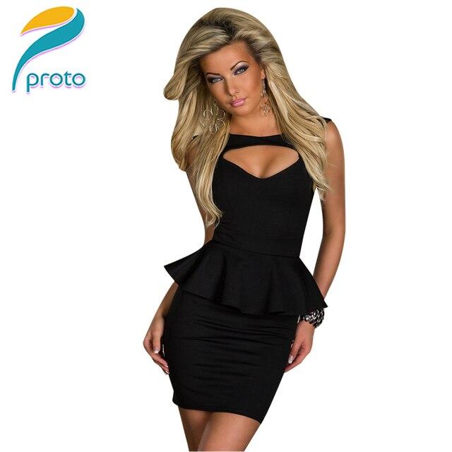 Russia Warehouse Summer Dress 2015 Peplum Office Dress Elegant Short