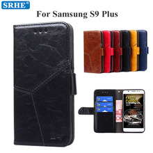 Flip Leather Case For Samsung Galaxy S9 Plus Case Luxury Wallet Cover For Samsun S9 Plus Coque Galaxy S9 Plus With Card Solt