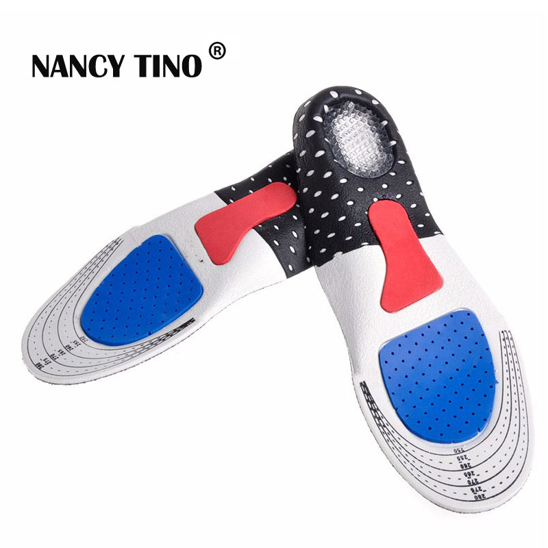NANCY TINO Unisex  Orthotic Arch Support Sport Shoe Pad Sport Running Gel Insoles Insert Cushion for Men Women Foot Care 2017 new 1pair s size unisex orthotic arch support sport shoe pad sport running gel insoles insert cushion for men women st1