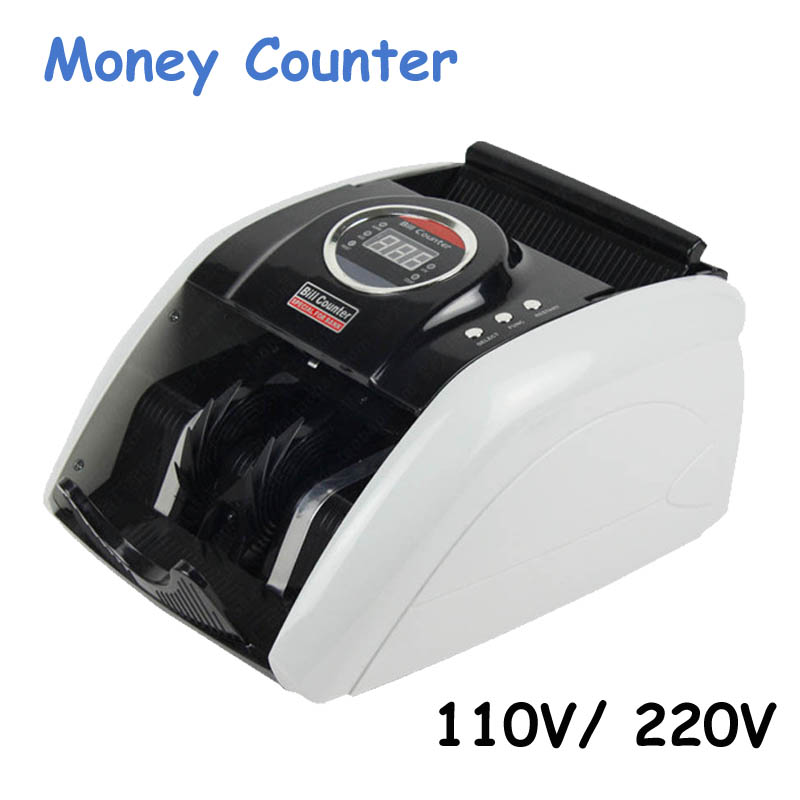 110V/220V Money Counter Suitable for EURO US DOLLAR Multi-Currency Compatible Bill Counter Cash money Counting Machine 5200UV