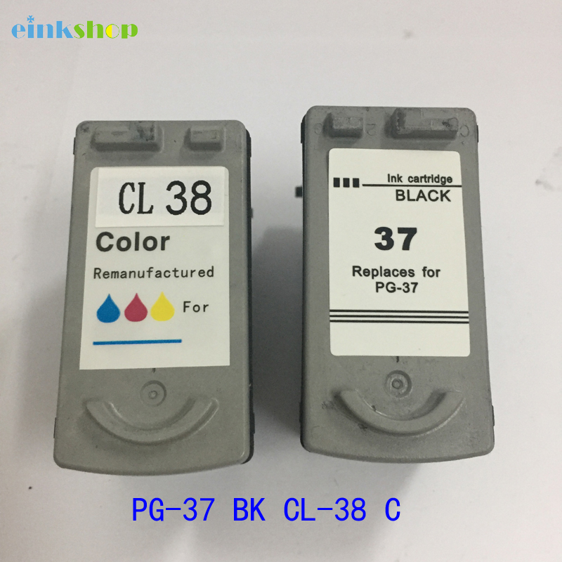 PG-37 CL-38 Ink Cartridge For canon PG37 CL38 For canon PIXMA ip1800 MP140 ip2600 pg 37 cl 38 MP160 MP190 MP210 MP220 MP420 color ink jet cartridge for canon printers 821 820 series