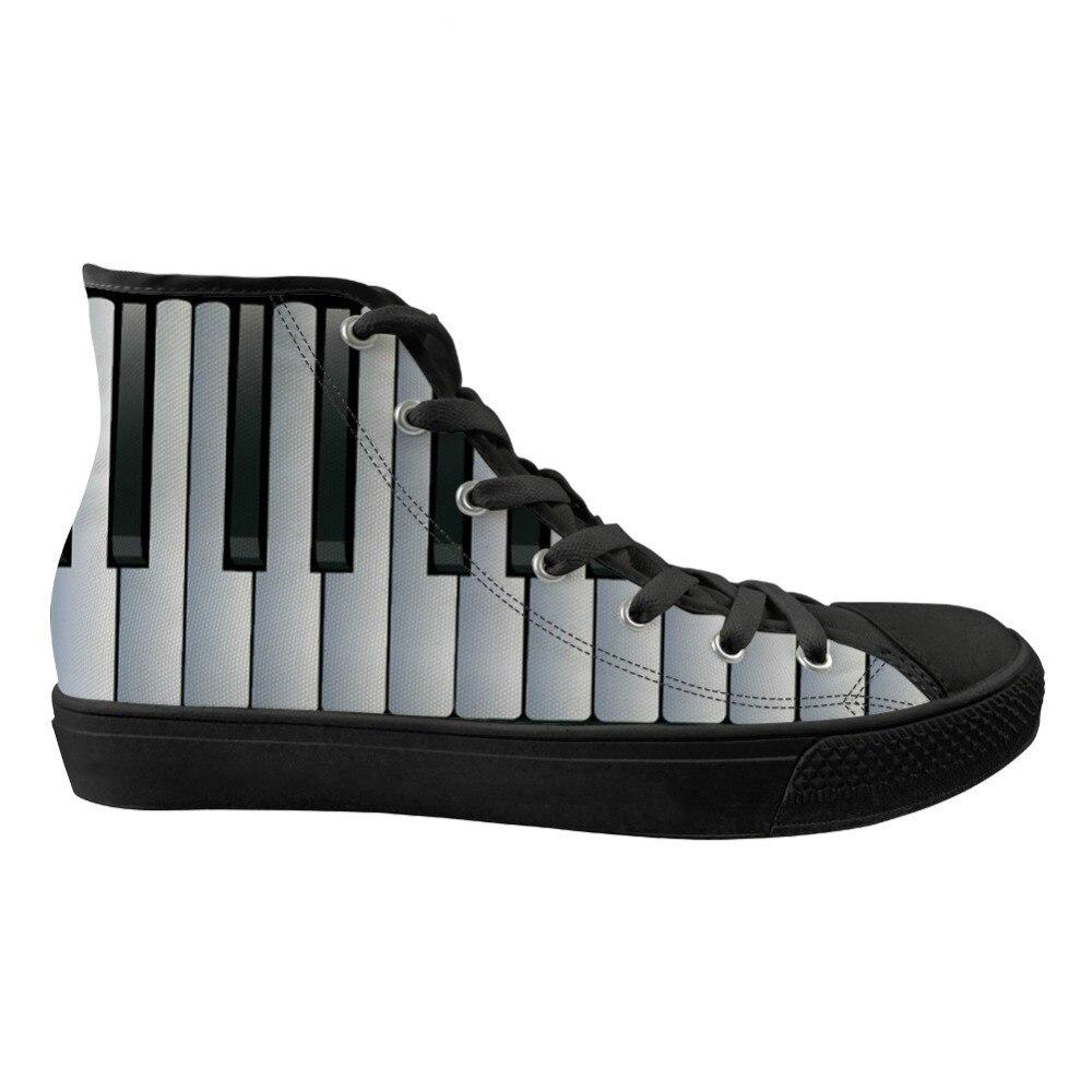 ThiKin décontracté chaussures en toile classique printemps chaussures hautes Notes de musique avec clavier Piano imprimer baskets plates pour les garçons