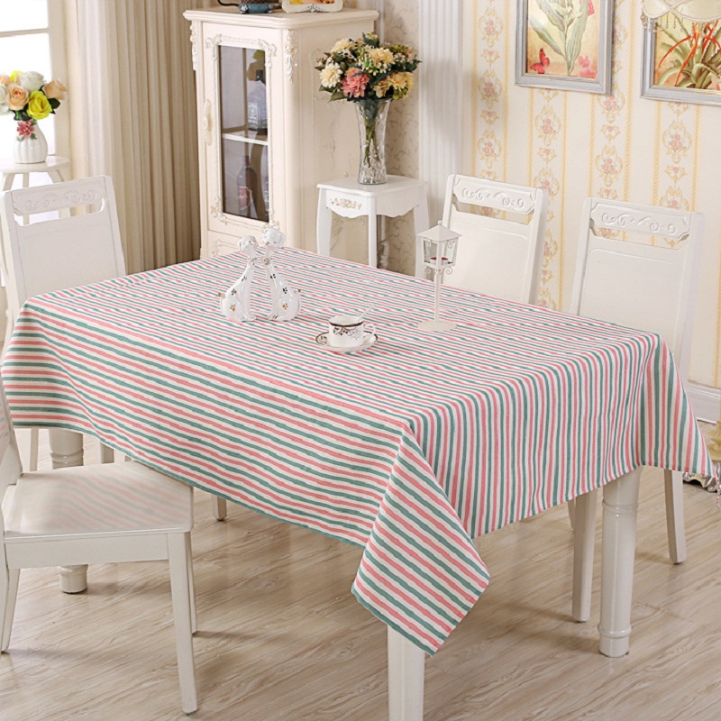 Beige And Coffee Plaid Print Linen Contemporary Bedroom: 11 Style Striped Plaid Printed Cotton Linen Tablecloth
