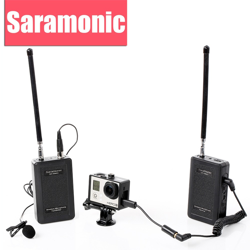 Saramonic Pro Lavalier Wireless Microphone SR-WM4C for Canon Nikon DSLR Camera Sony Panasonic Camcorder GoPro Hero 4 3 3+ Action