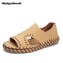 US Size Fisherman Soft Summer Sandals Man Breathable Slip On Sandals Casual Slides Men's Rome Style Beach Shoes(China)